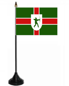 Nottinghamshire Desk / Table Flag with plastic stand and base.